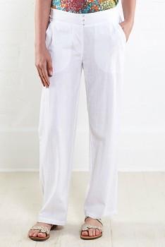 COTTON STRIGHT dámské letní kalhoty - bílá
