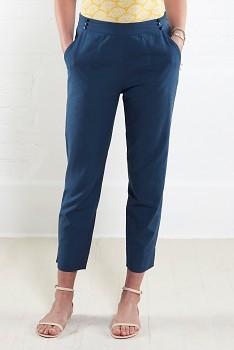 NARROW dámské letní 3/4 kalhoty - modrá atlantic