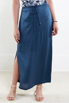 ATLANTIC dámská letní maxi sukně - tmavě modrá