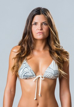 AVORIO TRIANGEL horní díl plavek bikini -  bílá