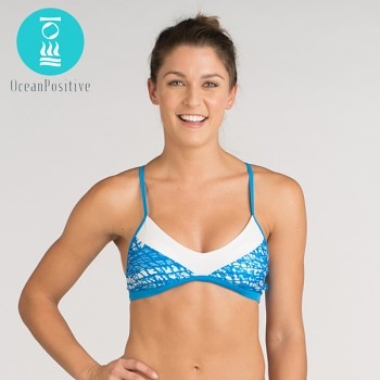 MALUKU horní díl plavek bikini - modrá
