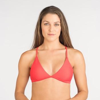 HANLI horní díl plavek bikini - korálová