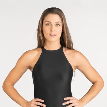 LINDEN dámské jednodílné plavky - černá