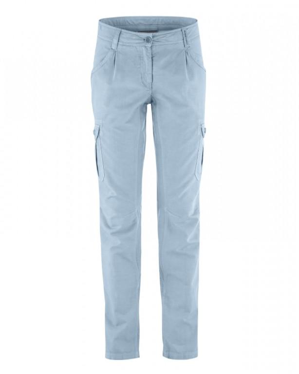846cad2a6c7 CARGO dámské kalhoty z biobavlny a konopí - světle modrá clear ...