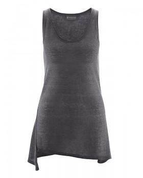 SEAM dámský top bez rukávů ze 100% konopí - tmavě šedá antracit
