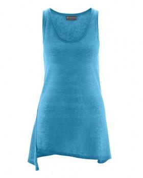 SEAM dámský top bez rukávů ze 100% konopí - modrá atlantic