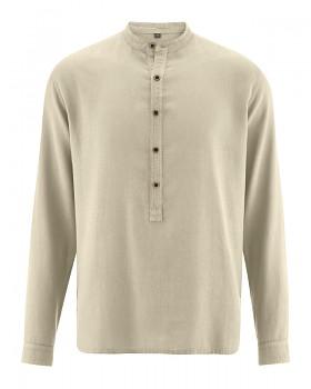 LUFT pánská košile z konopí a biobavlny - béžová hanf