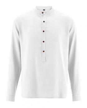 LUFT pánská košile z konopí a biobavlny - bílá