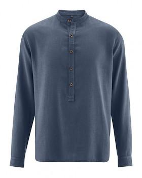 LUFT pánská košile z konopí a biobavlny - tmavě modrá wintersky