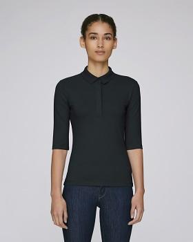 Stella DELIGHTS dámské polo tričko s krátkými rukávy - černá