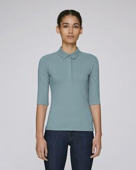 Stella DELIGHTS dámské polo tričko s krátkými rukávy - modrošedá citadel
