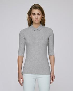Stella DELIGHTS dámské polo tričko s krátkými rukávy - šedá melange heather