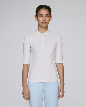 Stella DELIGHTS dámské polo tričko s krátkými rukávy - světle šedá heather ash