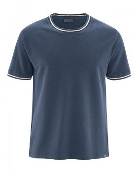 PIQUE pánské tričko s krátkými rukávy z konopí a biobavlny - tmavě modrá wintersky