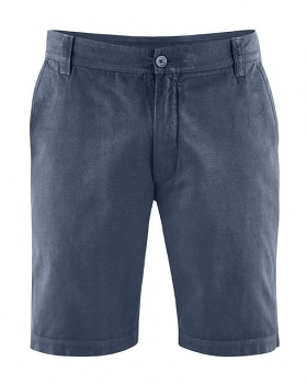 CLAUS pánské šortky z konopí a biobavlny - tmavě modrá wintersky