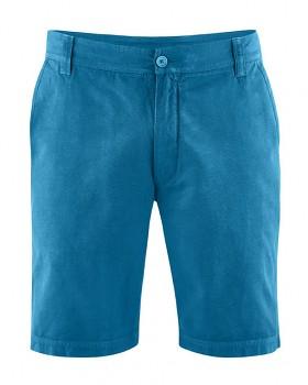 CLAUS pánské šortky z konopí a biobavlny - modrá sea