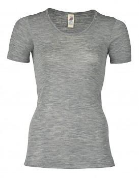 Dámské tričko z bio merino vlny a hedvábí  - světle šedá melange