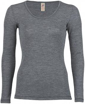 Dámské sportovní tričko s dlouhými rukávy ze 100% bio merino vlny  - modrá sapphire