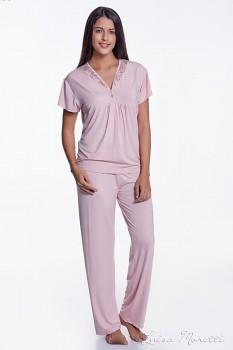 Dámské bambusové pyžamo ZOE - růžová