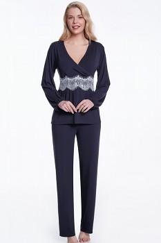 Dámské bambusové pyžamo ALEXA - černá