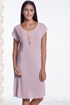 Dámská noční bambusová košilka  CARMEN - růžová