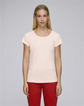STELLA WANTS Dámské tričko s kulatým výstřihem ze 100% biobavlny - růžová candy pink