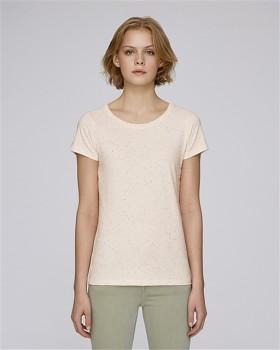 STELLA WANTS Dámské tričko s kulatým výstřihem ze 100% biobavlny - růžová ecru neppy mandarine heather