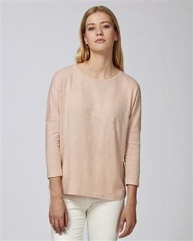 STELLA TURNS Dámské tričko s dlouhými rukávy ze 100% biobavlny - faded nude