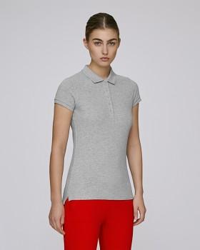 Stella PLAYS dámské polo tričko s krátkými rukávy z biobavlny  - světle šedá heather