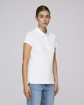 Stella PLAYS dámské polo tričko s krátkými rukávy z biobavlny  - bílá