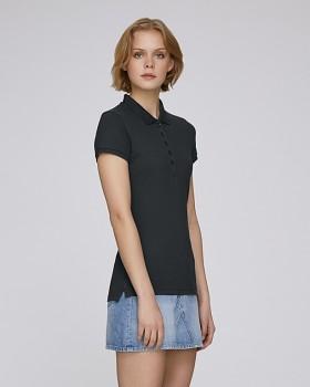Stella PLAYS dámské polo tričko s krátkými rukávy z biobavlny  - černá