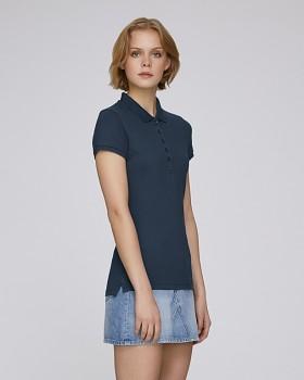 Stella PLAYS dámské polo tričko s krátkými rukávy z biobavlny  - modrá navy