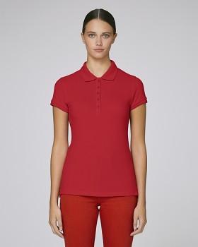 Stella PLAYS dámské polo tričko s krátkými rukávy z biobavlny  - červená