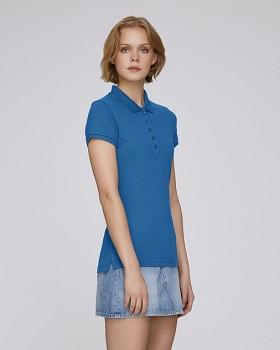 Stella PLAYS dámské polo tričko s krátkými rukávy z biobavlny  - modrá royal