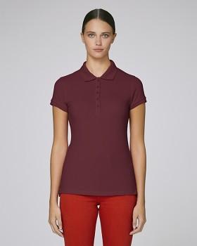 Stella PLAYS dámské polo tričko s krátkými rukávy z biobavlny  - burgundy