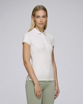 Stella PLAYS dámské polo tričko s krátkými rukávy z biobavlny  - světle šedá heather cream
