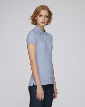 Stella PLAYS dámské polo tričko s krátkými rukávy z biobavlny  - modrá cream heather
