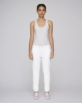 Stella TRACES dámské teplákové kalhoty z biobavlny - bílá
