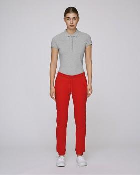 Stella TRACES dámské teplákové kalhoty z biobavlny - červená