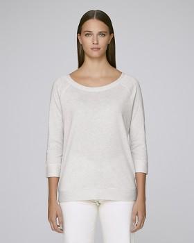 STELLA AMAZES Dámské tričko s 3/4 rukávy z tencelu a biobavlny - světle šedá cream heather grey