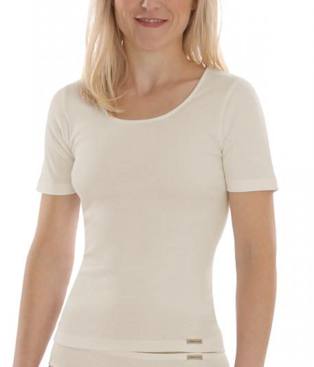 Comazo Earth Dámské tričko s krátkými rukávy ze 100% biobavlny - přírodní d17d263148