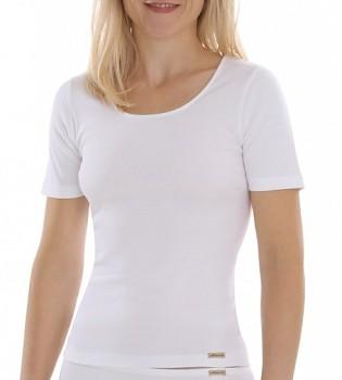 Comazo Earth Dámské tričko s krátkými rukávy ze 100% biobavlny - bílá
