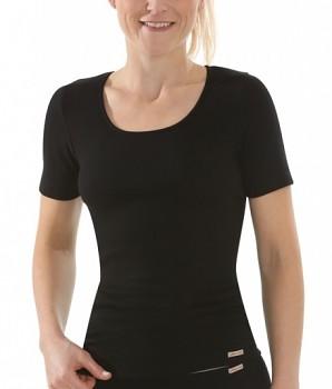 Comazo Earth Dámské tričko s krátkými rukávy ze 100% biobavlny - černá