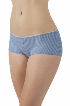 Comazo Earth Dámské bokové kalhotky z biobavlny - modrá jeans