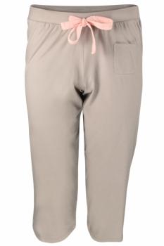 Comazo Earth Dámský spodní pyžamový díl v 3/4 délce ze 100% biobavlny - hnědá nugat
