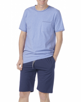 Pánské pyžamo z biobavlny - modrá jeans