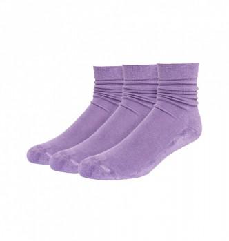 Sportovní bambusové ponožky světle fialové