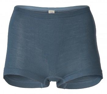 Dámské kalhotky s nohavičkami z merino vlny a hedvábí - modrá atlantik