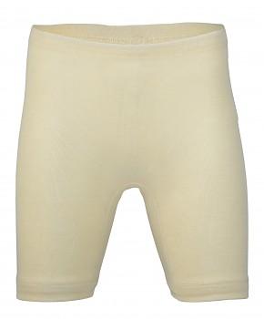 Dámské kalhotky s nohavičkou z merino vlny a hedvábí - přírodní