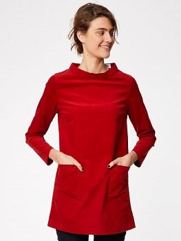 RUBINA dámská manšestrová tunika z biobavlny - červená fox